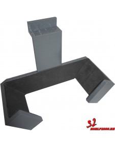 soporte para palas palas de padel en polimero