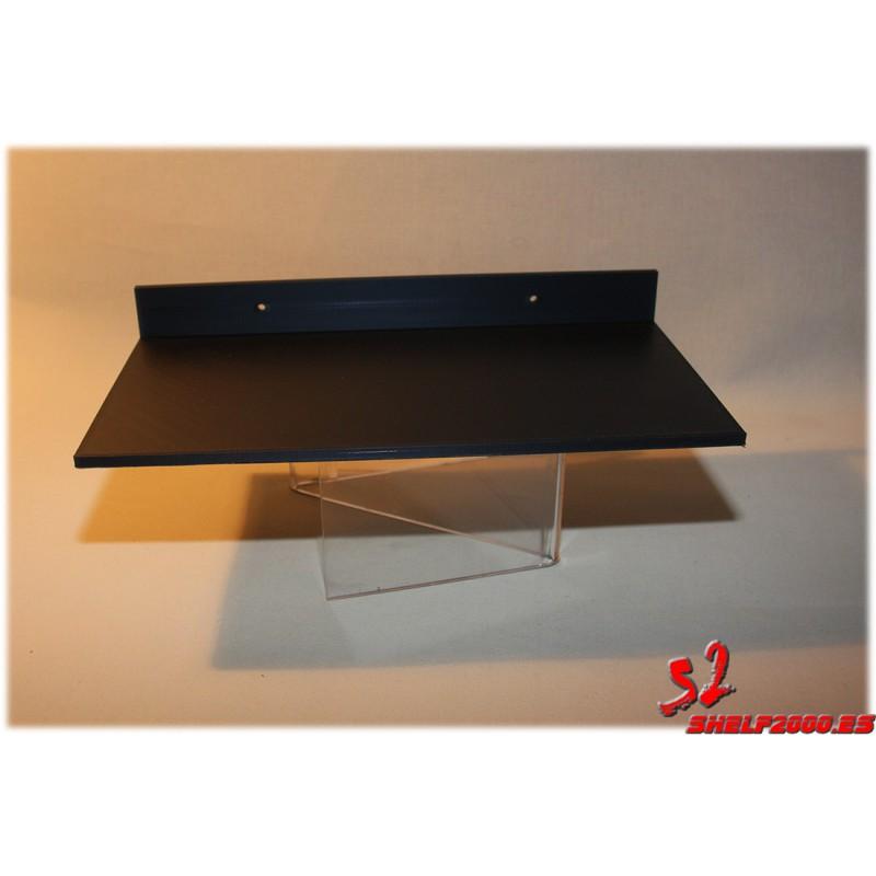 zapatillero para fijar a pared en ABS lacado en negro